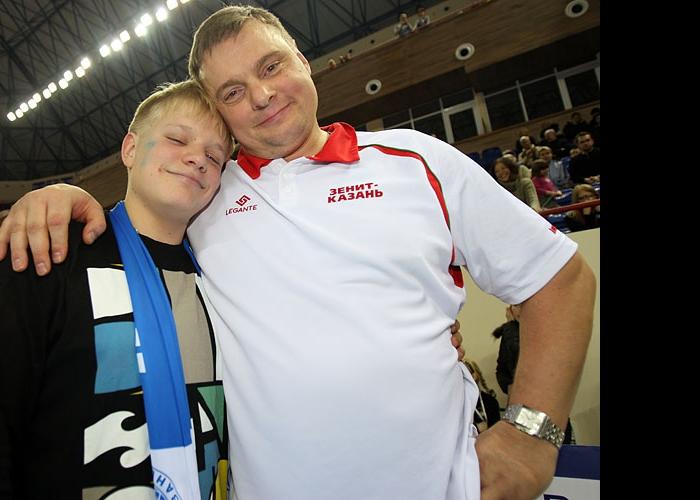 Владимир Алекно с сыном
