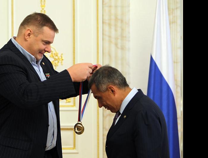 Владимир Алекно и Рустам Минниханов