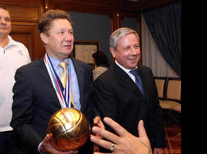 Владимир Алекно, Алексей Миллер и Рафкат Кантюков
