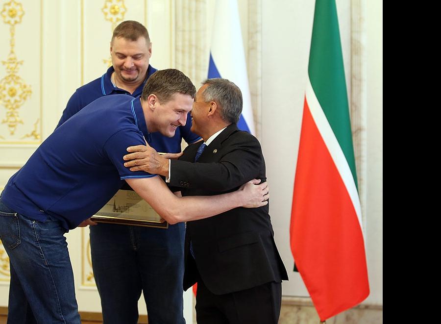 Николай Апаликов, Владимир Алекно и Рустам Минниханов
