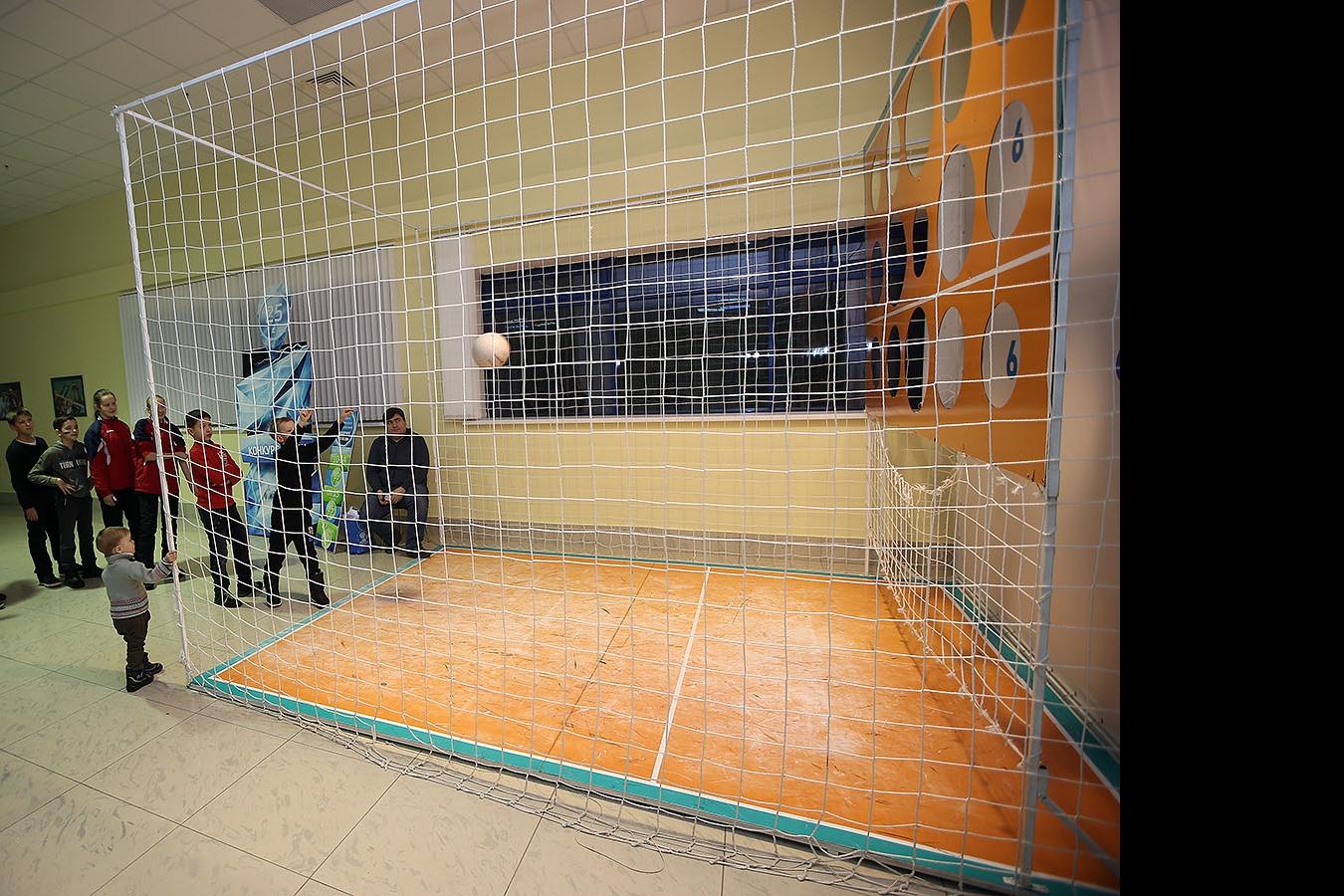 Конкурс на точный бросок в Центре волейбола