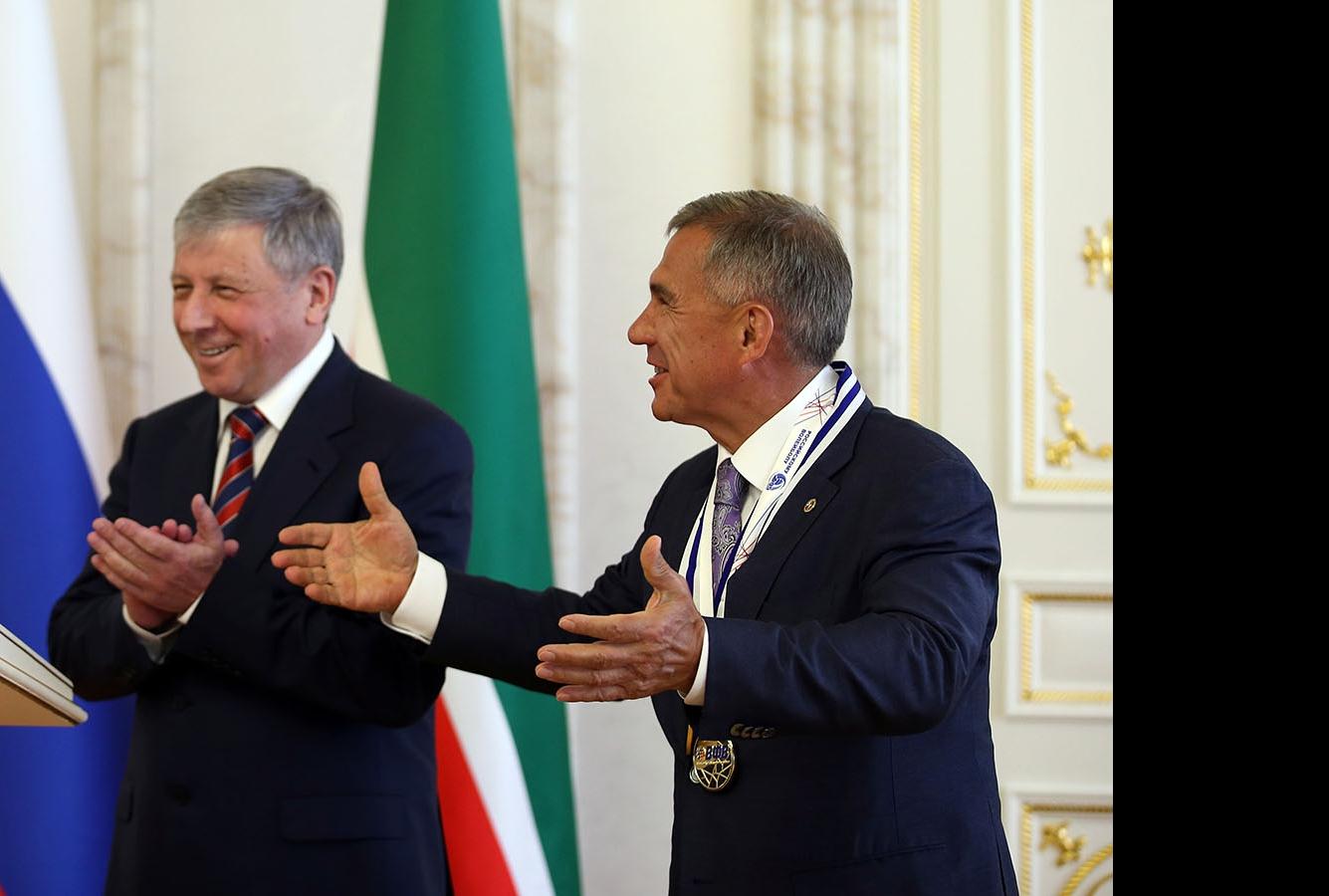 Рафкат Кантюков и Рустам Минниханов