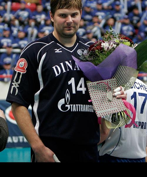 После матча Андрея Егорчева поздравили с Днём рождения