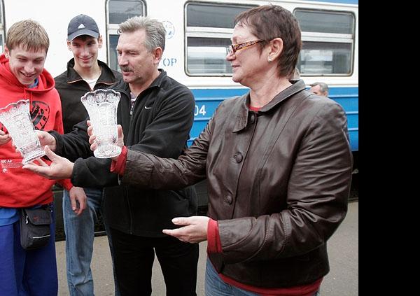 Алексей Обмочаев, Юрий  Кравцов и Татьяна Образцова